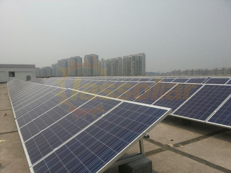 海南水泥平屋顶400KW项目Hainan 400KW Flat Roof Mount Project.jpg